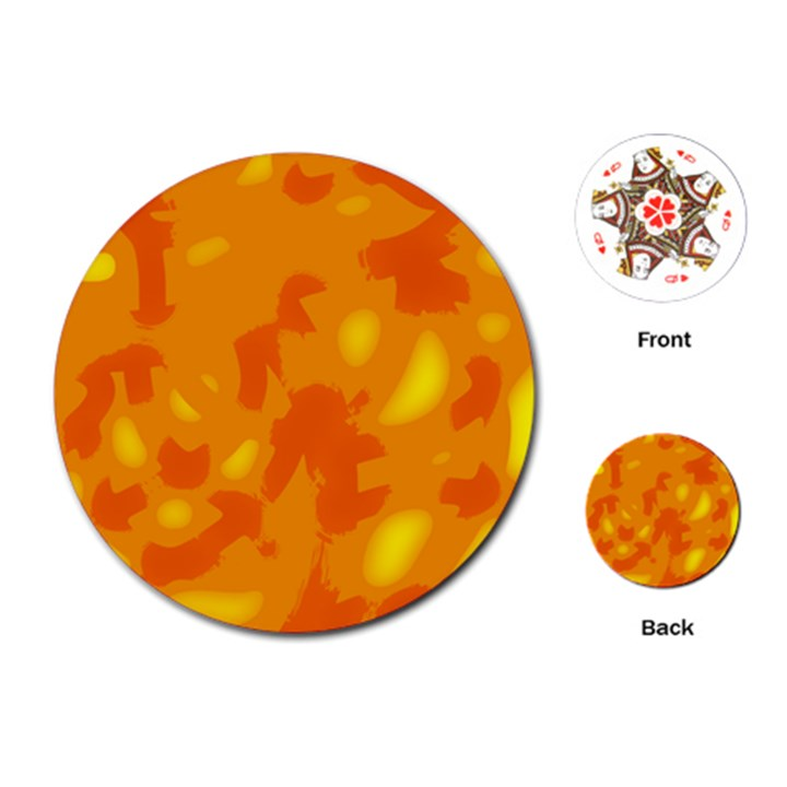 Orange decor Playing Cards (Round)