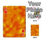 Orange decor Playing Cards 54 Designs  Front - Heart4