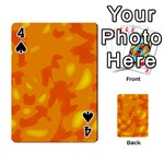 Orange decor Playing Cards 54 Designs  Front - Spade4