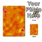 Orange decor Playing Cards 54 Designs  Front - Heart9