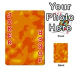 Orange decor Playing Cards 54 Designs  Front - Joker2