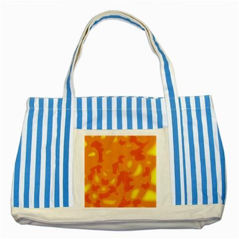 Orange decor Striped Blue Tote Bag