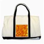 Orange decor Two Tone Tote Bag Front