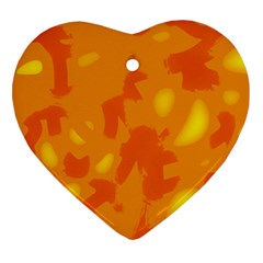 Orange decor Heart Ornament (2 Sides)