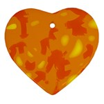 Orange decor Heart Ornament (2 Sides) Front