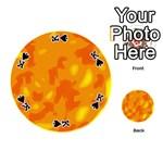 Orange decor Playing Cards 54 (Round)  Front - SpadeK