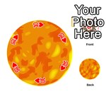 Orange decor Playing Cards 54 (Round)  Front - Heart10