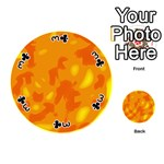 Orange decor Playing Cards 54 (Round)  Front - Club3