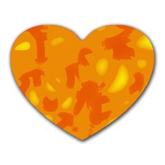 Orange decor Heart Mousepads