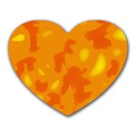 Orange decor Heart Mousepads Front