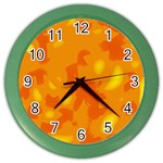 Orange decor Color Wall Clocks Front