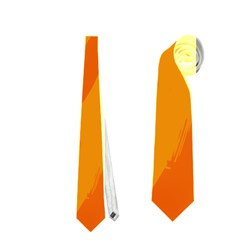 Orange decor Neckties (One Side)
