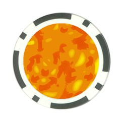 Orange Decor Poker Chip Card Guards