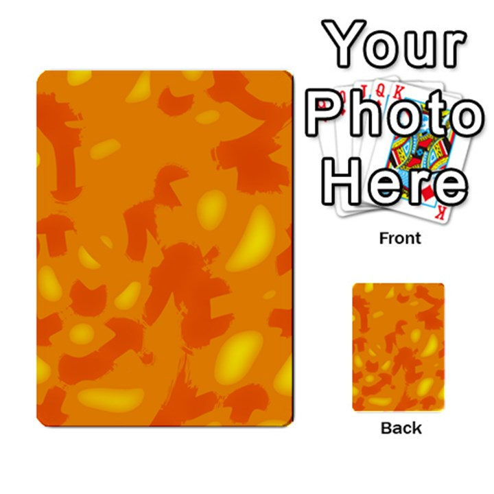Orange decor Multi-purpose Cards (Rectangle)