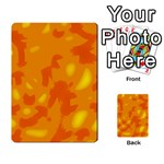 Orange decor Multi-purpose Cards (Rectangle)  Back 10
