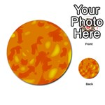 Orange decor Multi-purpose Cards (Round)  Back 37