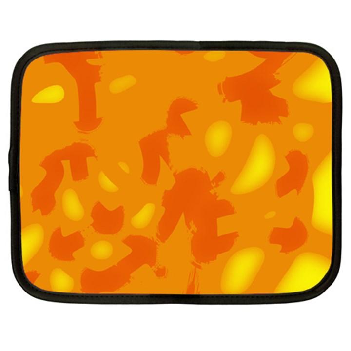 Orange decor Netbook Case (Large)