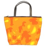 Orange decor Bucket Bags Front