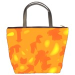 Orange decor Bucket Bags Back