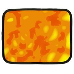 Orange decor Netbook Case (XL)