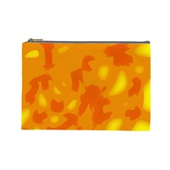 Orange Decor Cosmetic Bag (large)