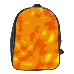 Orange decor School Bags(Large)