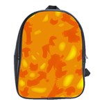 Orange decor School Bags(Large)  Front