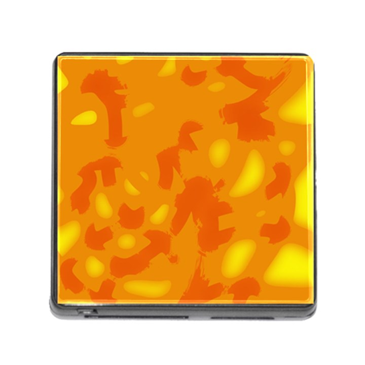 Orange decor Memory Card Reader (Square)
