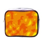 Orange decor Mini Toiletries Bags Front