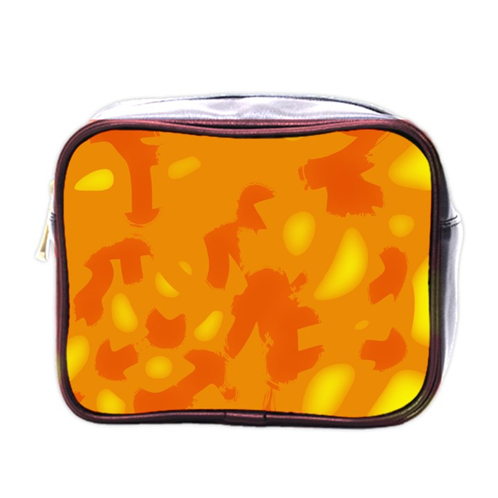 Orange decor Mini Toiletries Bags