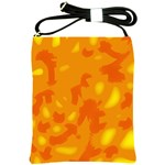 Orange decor Shoulder Sling Bags Front
