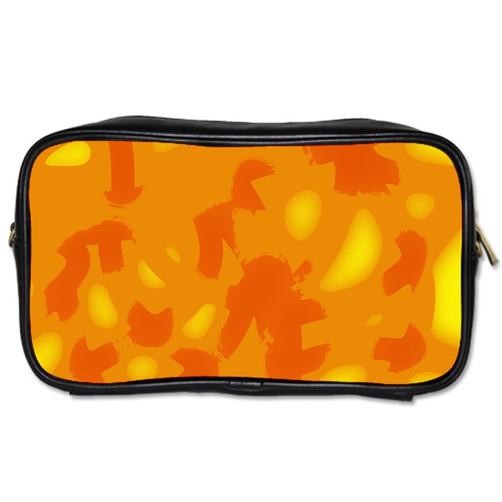 Orange decor Toiletries Bags