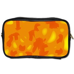 Orange Decor Toiletries Bags 2 Side