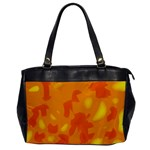 Orange decor Office Handbags Front