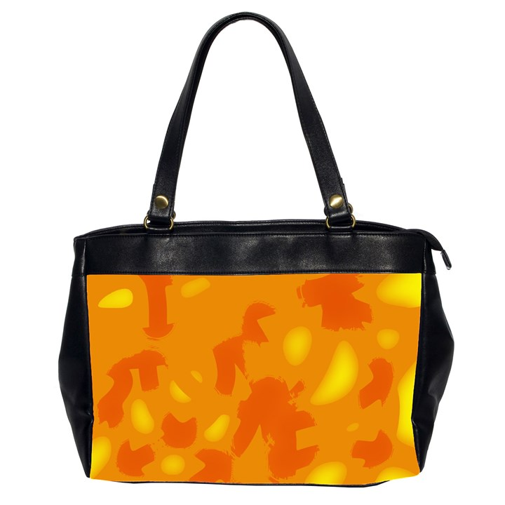 Orange decor Office Handbags (2 Sides)