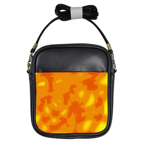 Orange decor Girls Sling Bags