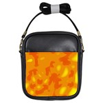 Orange decor Girls Sling Bags Front