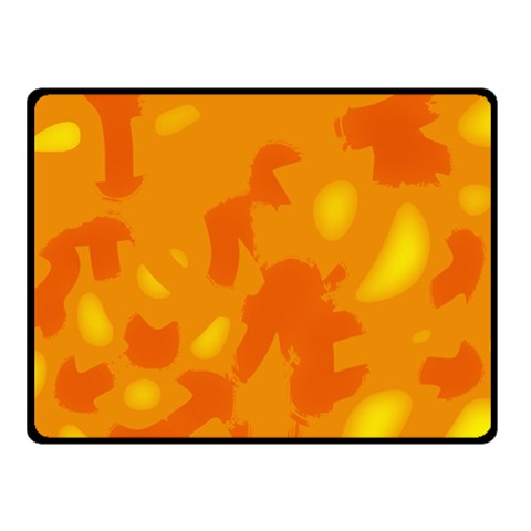 Orange decor Fleece Blanket (Small)