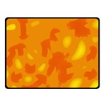 Orange decor Fleece Blanket (Small) 50 x40 Blanket Front