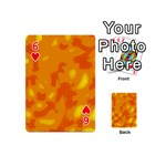 Orange decor Playing Cards 54 (Mini)  Front - Heart6
