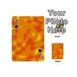 Orange decor Playing Cards 54 (Mini)  Front - SpadeJ