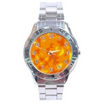 Orange decor Stainless Steel Analogue Watch Front