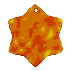 Orange decor Ornament (Snowflake)