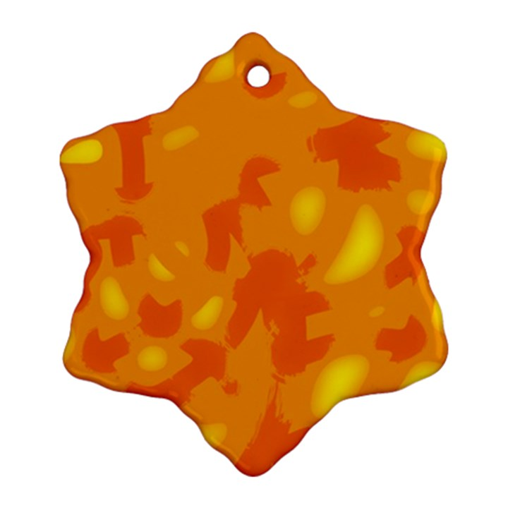 Orange decor Snowflake Ornament (2-Side)