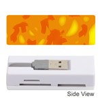 Orange decor Memory Card Reader (Stick)  Front