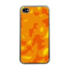 Orange decor Apple iPhone 4 Case (Clear)