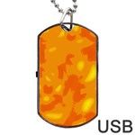 Orange decor Dog Tag USB Flash (One Side) Front