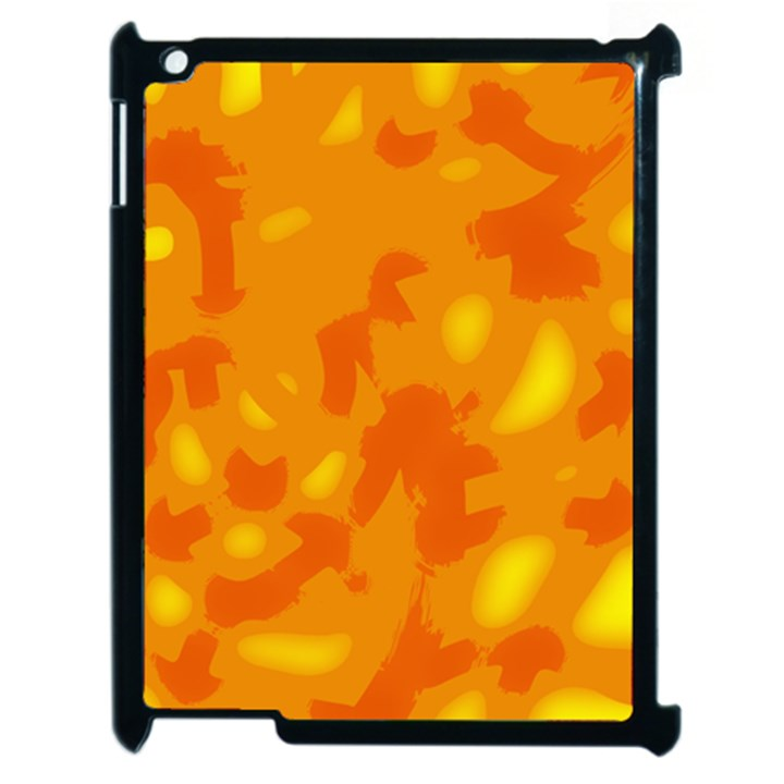 Orange decor Apple iPad 2 Case (Black)