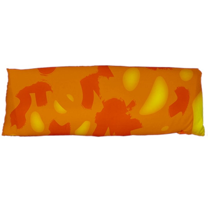 Orange decor Body Pillow Case Dakimakura (Two Sides)