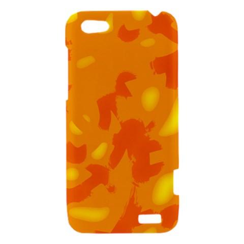 Orange decor HTC One V Hardshell Case